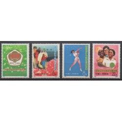 Chine - 1973 - No 1883/1886 - Sports divers - Neufs avec charnière