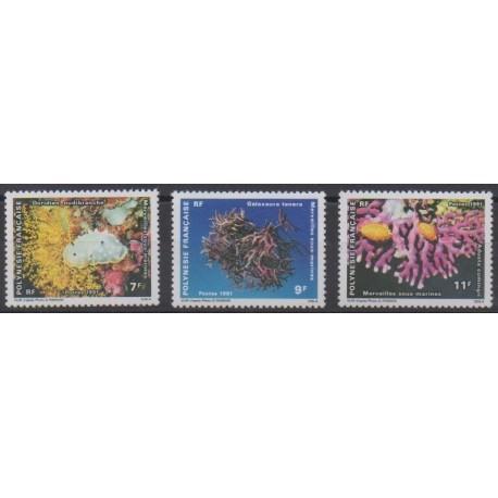 Polynesia - 1991 - Nb 376/378 - Sea life