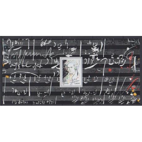 France - Souvenir sheets - 2020 - Nb BS170 - Music - - Ludwig van Beethoven