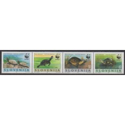 Slovenia - 1996 - Nb 122/125 - Reptils - Endangered species - WWF