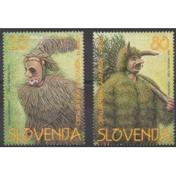 Slovenia - 1997 - Nb 164/165 - Masks or carnaval