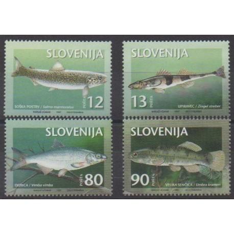 Slovenia - 1997 - Nb 169/172 - Sea life