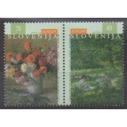 Slovenia - 1996 - Nb 134/135 - Celebrities - Europa - Paintings