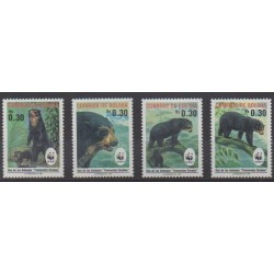 Bolivia - 1991 - Nb 767/770 - Mamals - Endangered species - WWF