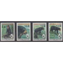 Bolivie - 1991 - No 767/770 - Mammifères - Espèces menacées - WWF