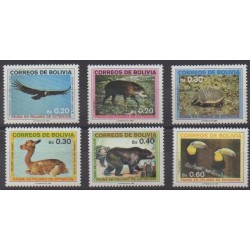 Bolivia - 1987 - Nb 683/688 - Animals - Endangered species - WWF