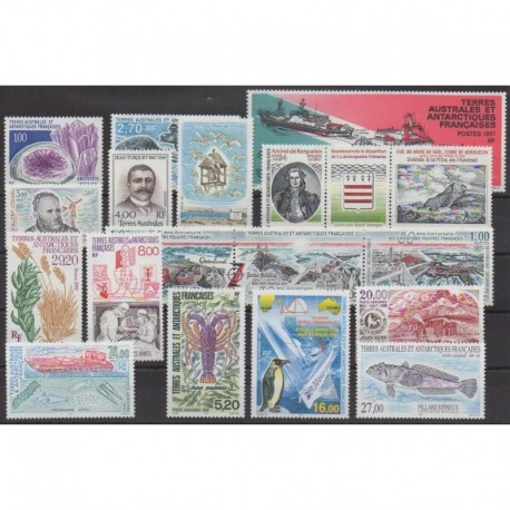 French Southern Territories - Complete year - 1997 - Nb 213/225 - PA141/PA145