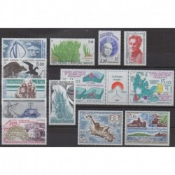 French Southern Territories - Complete year - 1988 - Nb 130/139 - PA100/PA102