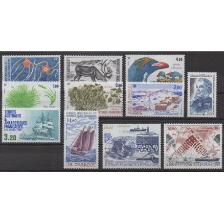 French Southern Territories - Complete year - 1987 - Nb 122/129 - PA97/PA99