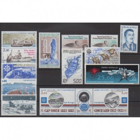 French Southern Territories - Complete year - 1982 - Nb 95/101 - PA71/PA78