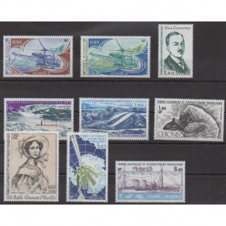 French Southern Territories - Complete year - 1981 - Nb 92/94 - PA65/PA70