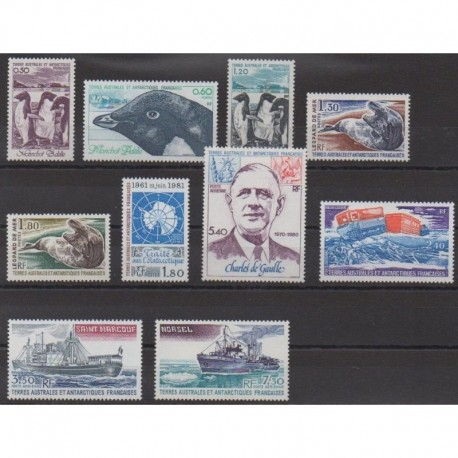 French Southern Territories - Complete year - 1980 - Nb 86/91 - PA61/PA64