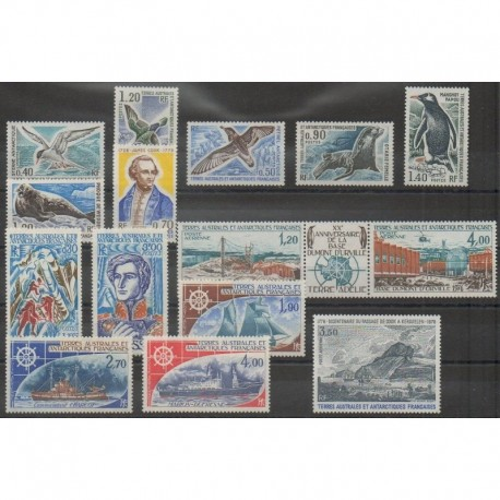 French Southern Territories - Complete year - 1976 - Nb 55/63 - PA42/PA47