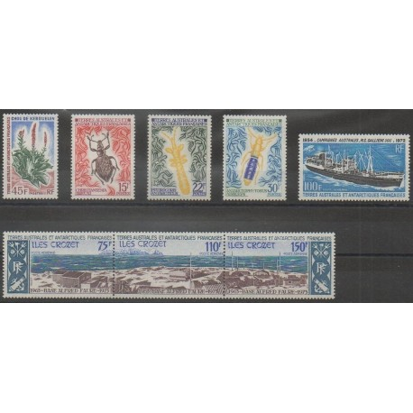French Southern Territories - Complete year - 1973 - Nb 48/51 - PA29 et PA34/PA36