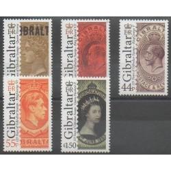 Gibraltar - 2011 - Nb 1425/1429 - Stamps on stamps