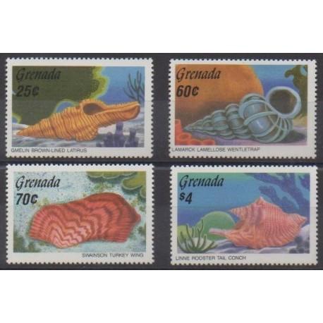 Grenade - 1986 - Nb 1331/1334 - Sea life