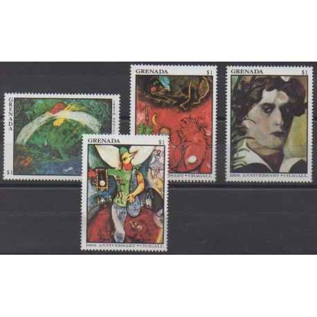 Grenade - 1987 - Nb 1423/1426 - Paintings