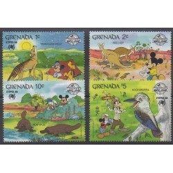 Grenade - 1988 - Nb 1605/1608 - Walt Disney - Philately
