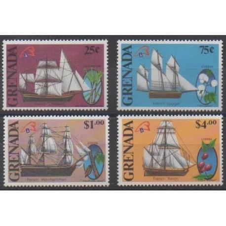 Grenade - 1989 - Nb 1803/1806 - Boats - Philately