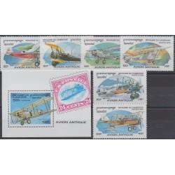Cambodge - 1996 - No 1382L/1382R - BF123C - Avions