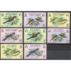 Nouvelles-Hébrides - 1979- No 575/582 - Oiseaux