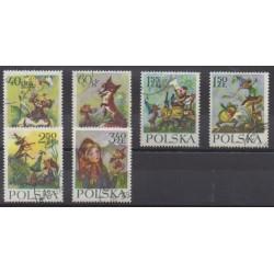 Pologne - 1962 - No 1222/1227 - Littérature - Oblitérés