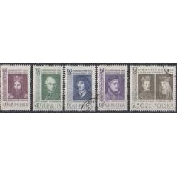 Pologne - 1964 - No 1342/1346 - Célébrités - Oblitérés