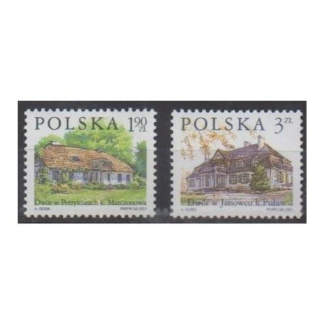 Poland - 2001 - Nb 3651/3652 - Architecture