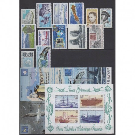 French Southern Territories - Complete year - 2001 - Nb 287/307 - BF5/BF6