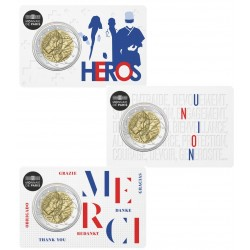 2 euro commémorative - France - 2020 - Medical Research - 3 coincards - Coincard