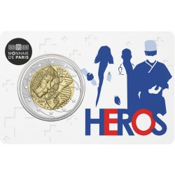 2 euro commémorative - France - 2020 - Medical Research - Hero - Coincard