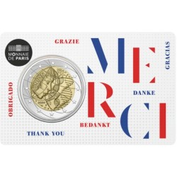 2 euro commémorative - France - 2020 - Medical Research - Thank you - Coincard