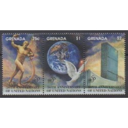 Grenade - 1995 - No 2517/2519 - Nations unies