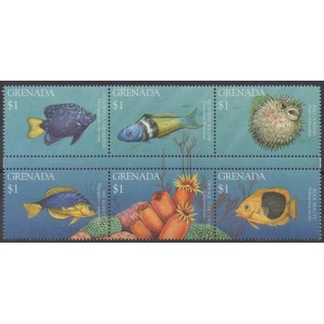 Grenade - 1995 - Nb 2630/2635 - Sea life