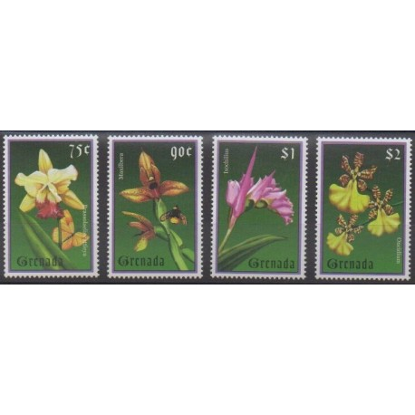 Grenade - 2000 - Nb 3556/3559 - Orchids