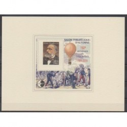 France - CNEP Sheets - 2020 - Nb CNEP 85b - Epreuve de luxe - Celebrities - Hot-air balloons - Airships