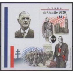 France - CNEP Sheets - 2020 - CNEP non dentelé - De Gaullle