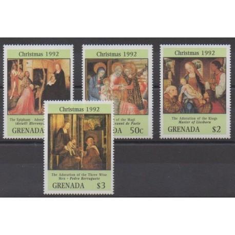 Grenade - 1992 - Nb 2177/2180 - Christmas - Paintings