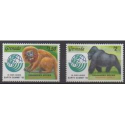 Grenade - 1992 - Nb 2198/2199 - Mamals - Endangered species - WWF
