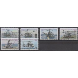 French Southern and Antarctic Territories - Post - 2013 - Nb 654/659 - Helicopters