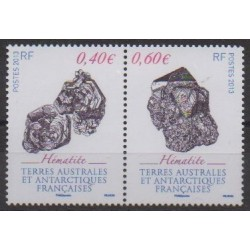 French Southern and Antarctic Territories - Post - 2013 - Nb 643/644 - Minerals - Gems