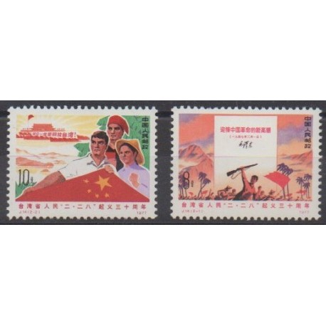 China - 1977 - Nb 2061/2062 - Various Historics Themes - Mint hinged