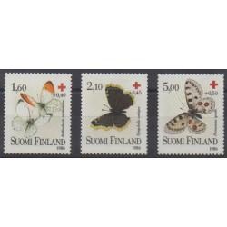Finlande - 1986 - No 957/959 - Santé ou Croix-Rouge - Insectes