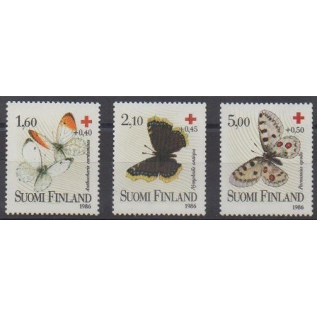 Finland - 1986 - Nb 957/959 - Health - Insects