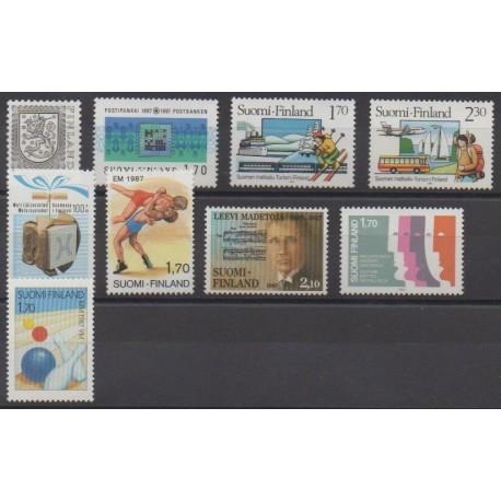 Finland - 1987 - Nb 972/980
