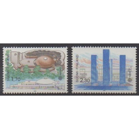 Finland - 1987 - Nb 985/986 - Architecture - Europa