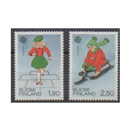 Finland - 1989 - Nb 1042/1043 - Childhood - Europa