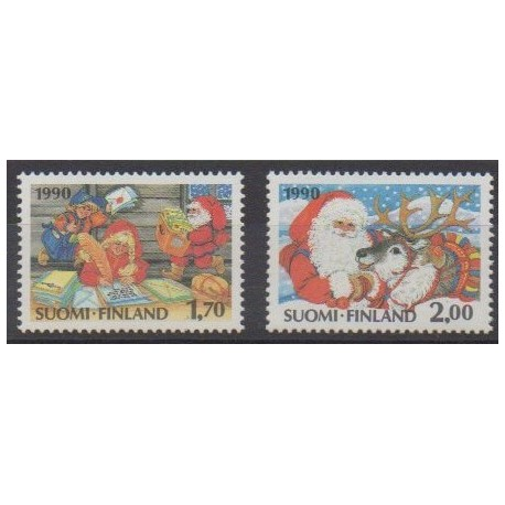 Finland - 1990 - Nb 1090/1091 - Christmas