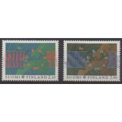 Finland - 1991 - Nb 1110/1111 - Space - Europa