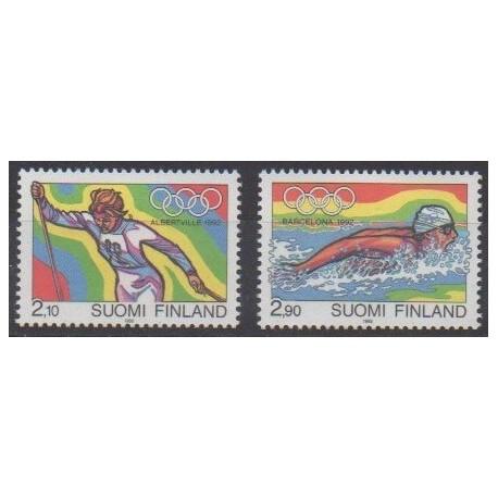 Finland - 1992 - Nb 1127/1128 - Summer Olympics - Winter Olympics